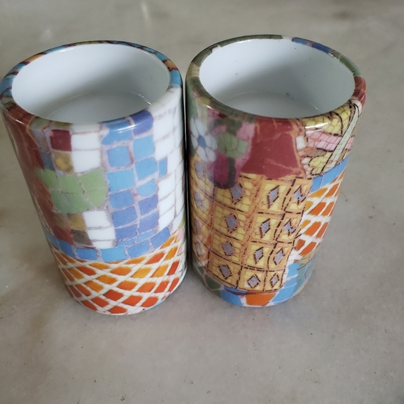Round Porcelain Modern Candlestick Holders